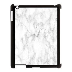 White Background Pattern Tile Apple Ipad 3/4 Case (black)