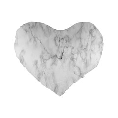 White Background Pattern Tile Standard 16  Premium Heart Shape Cushions