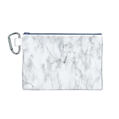 White Background Pattern Tile Canvas Cosmetic Bag (m)