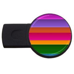 Stripes Striped Design Pattern Usb Flash Drive Round (2 Gb)