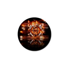Butterfly Brown Puzzle Background Golf Ball Marker