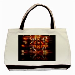 Butterfly Brown Puzzle Background Basic Tote Bag