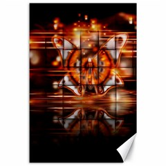 Butterfly Brown Puzzle Background Canvas 24  X 36