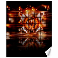 Butterfly Brown Puzzle Background Canvas 11  X 14