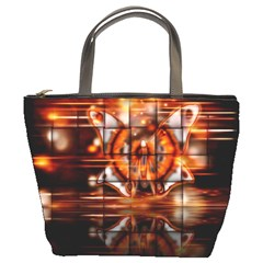Butterfly Brown Puzzle Background Bucket Bags