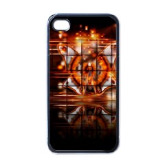 Butterfly Brown Puzzle Background Apple Iphone 4 Case (black)