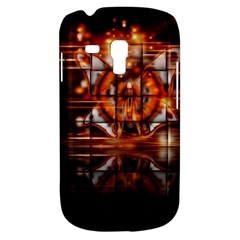 Butterfly Brown Puzzle Background Galaxy S3 Mini