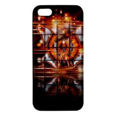 Butterfly Brown Puzzle Background Apple Iphone 5 Premium Hardshell Case