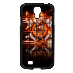 Butterfly Brown Puzzle Background Samsung Galaxy S4 I9500/ I9505 Case (black)