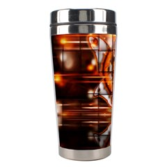 Butterfly Brown Puzzle Background Stainless Steel Travel Tumblers