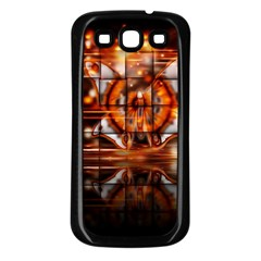Butterfly Brown Puzzle Background Samsung Galaxy S3 Back Case (black)