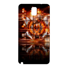 Butterfly Brown Puzzle Background Samsung Galaxy Note 3 N9005 Hardshell Back Case
