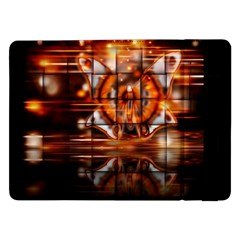 Butterfly Brown Puzzle Background Samsung Galaxy Tab Pro 12 2  Flip Case