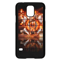 Butterfly Brown Puzzle Background Samsung Galaxy S5 Case (black)