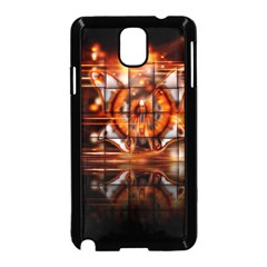 Butterfly Brown Puzzle Background Samsung Galaxy Note 3 Neo Hardshell Case (black)