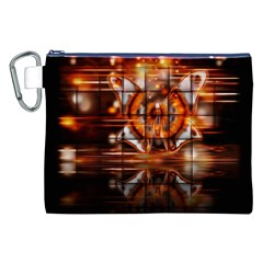 Butterfly Brown Puzzle Background Canvas Cosmetic Bag (xxl)