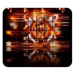 Butterfly Brown Puzzle Background Double Sided Flano Blanket (small)