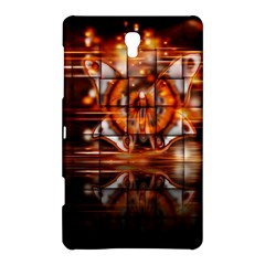 Butterfly Brown Puzzle Background Samsung Galaxy Tab S (8 4 ) Hardshell Case