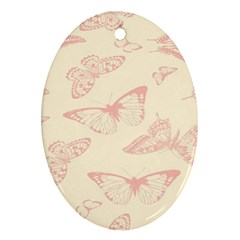 Butterfly Butterflies Vintage Oval Ornament (two Sides)