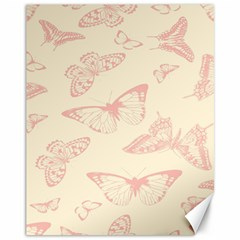Butterfly Butterflies Vintage Canvas 11  X 14
