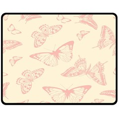 Butterfly Butterflies Vintage Fleece Blanket (medium)