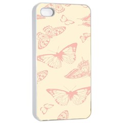 Butterfly Butterflies Vintage Apple Iphone 4/4s Seamless Case (white)