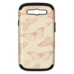 Butterfly Butterflies Vintage Samsung Galaxy S Iii Hardshell Case (pc+silicone)