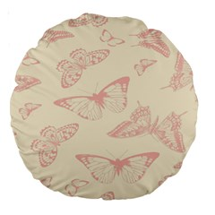 Butterfly Butterflies Vintage Large 18  Premium Round Cushions