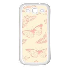 Butterfly Butterflies Vintage Samsung Galaxy S3 Back Case (white)