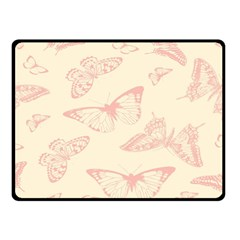 Butterfly Butterflies Vintage Double Sided Fleece Blanket (small)