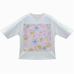 Floral Background Bird Drawing Infant/toddler T Shirts