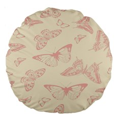 Butterfly Butterflies Vintage Large 18  Premium Flano Round Cushions