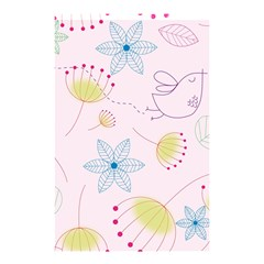 Floral Background Bird Drawing Shower Curtain 48  X 72  (small)