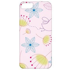 Floral Background Bird Drawing Apple Iphone 5 Classic Hardshell Case