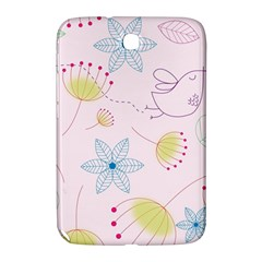 Floral Background Bird Drawing Samsung Galaxy Note 8 0 N5100 Hardshell Case
