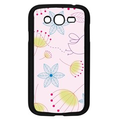 Floral Background Bird Drawing Samsung Galaxy Grand Duos I9082 Case (black)
