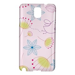 Floral Background Bird Drawing Samsung Galaxy Note 3 N9005 Hardshell Case