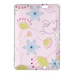 Floral Background Bird Drawing Kindle Fire Hdx 8 9  Hardshell Case