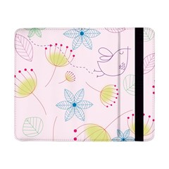 Floral Background Bird Drawing Samsung Galaxy Tab Pro 8 4  Flip Case