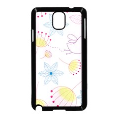 Floral Background Bird Drawing Samsung Galaxy Note 3 Neo Hardshell Case (black)