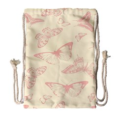 Butterfly Butterflies Vintage Drawstring Bag (large)
