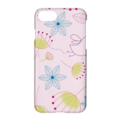 Floral Background Bird Drawing Apple Iphone 8 Hardshell Case