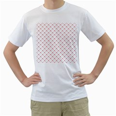 Hearts Pattern Love Design Men s T Shirt (white) (two Sided)