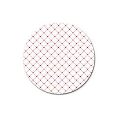Hearts Pattern Love Design Magnet 3  (round)