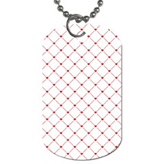 Hearts Pattern Love Design Dog Tag (two Sides)