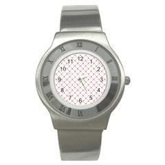 Hearts Pattern Love Design Stainless Steel Watch