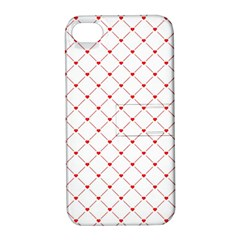 Hearts Pattern Love Design Apple Iphone 4/4s Hardshell Case With Stand