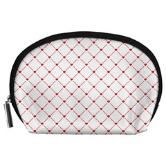Hearts Pattern Love Design Accessory Pouches (large)