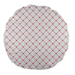 Hearts Pattern Love Design Large 18  Premium Flano Round Cushions