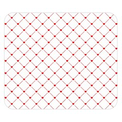 Hearts Pattern Love Design Double Sided Flano Blanket (small)